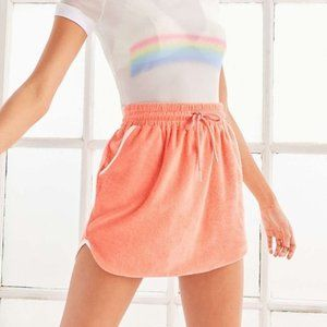 UO BDG | Orange Terrycloth Pull On Skirt